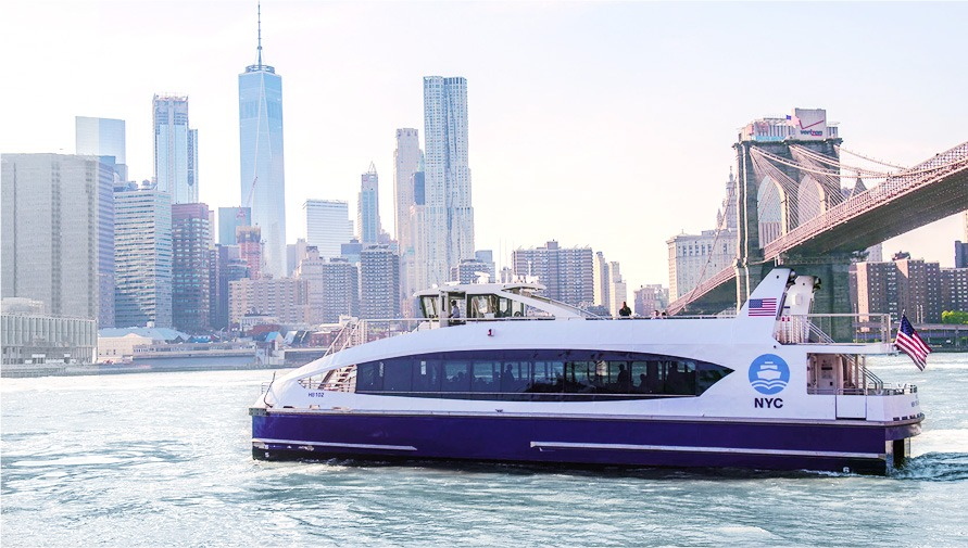 NYC Ferry uses Arvinyl Marine Wall Laminates