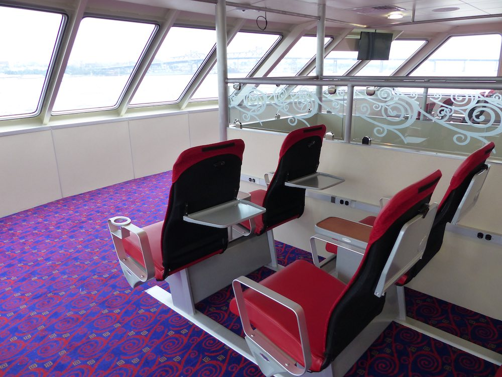 seating on ferry boat