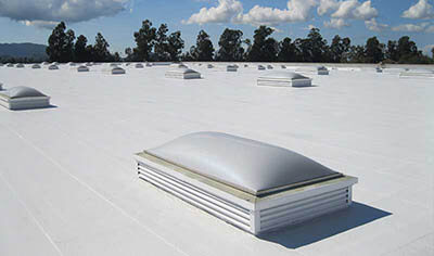 PVC and TPO roofing membranes