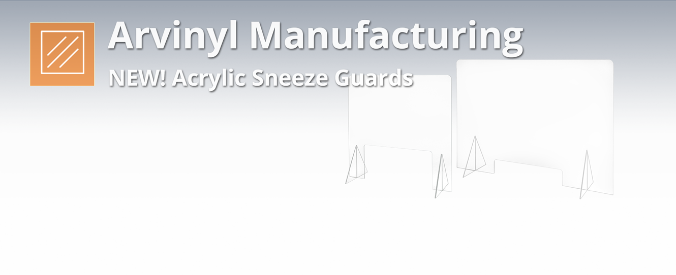 Arvinyl Acrylic Sneeze Guard